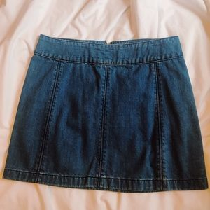 Free People Jean skirt size 12